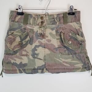 Digital Clothing 3 Camo Print Mini Cargo Skirt